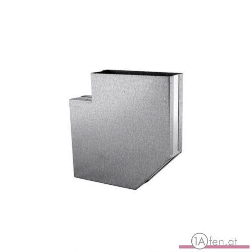 Zuluft Kanalbogen Flach  90°/ 250 x 50 MM